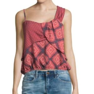 """Free People """"Call On Me"""" Tank in Red Sz M"""